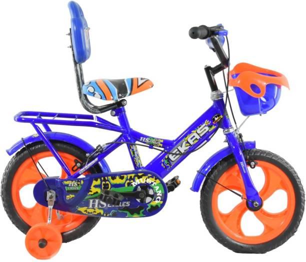 Mustang Ekas 2020 Bike For Kids Of Age 2-5 Yrs Blue Orange 14 T Recreation Cycle