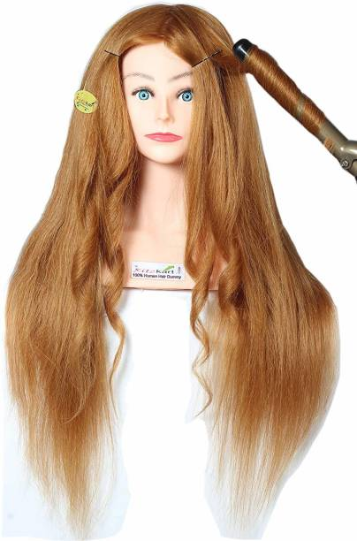 Ritzkart Practice/Training  Dummy,Original Human hair dummy For  Styling Practice Spl For curling, training Dye/Tong/Braiding (85% human hair Dummy 33inch 320 gm) Hair Extension