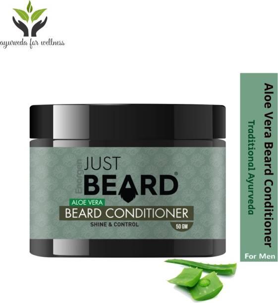 Enorgen JUSTBEARD Aloe Vera Beard Conditioner   Repair,Soften and Protect Your Beard  Hydrating and Nourishing Beard with Natural Aloe Vera and Shea Butter Beard Cream