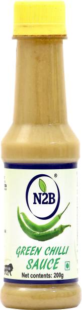N2B Green Chilli Sauce 1200g (Pack of 6, 200g each) Sauce