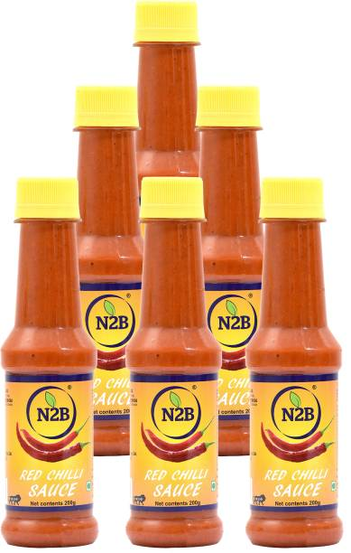 N2B Red Chilli Sauce 1200g (Pack of 6, 200g each) Sauce