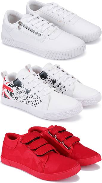 3SIX5 Combo pack of 3 casual, sneaker shoes for men Sneakers For Men