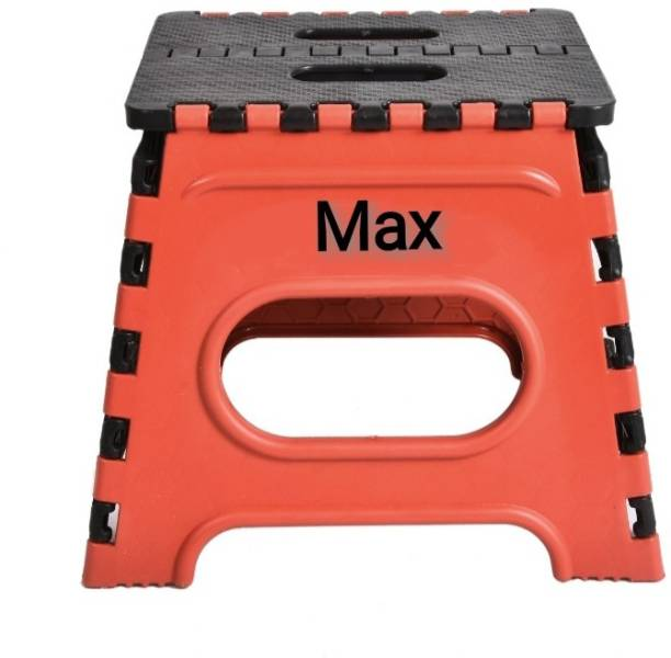 Max Max Folding Stool for Adults and Kids Bedroom & Kitchen Stool (Red) Stool Kitchen Stool