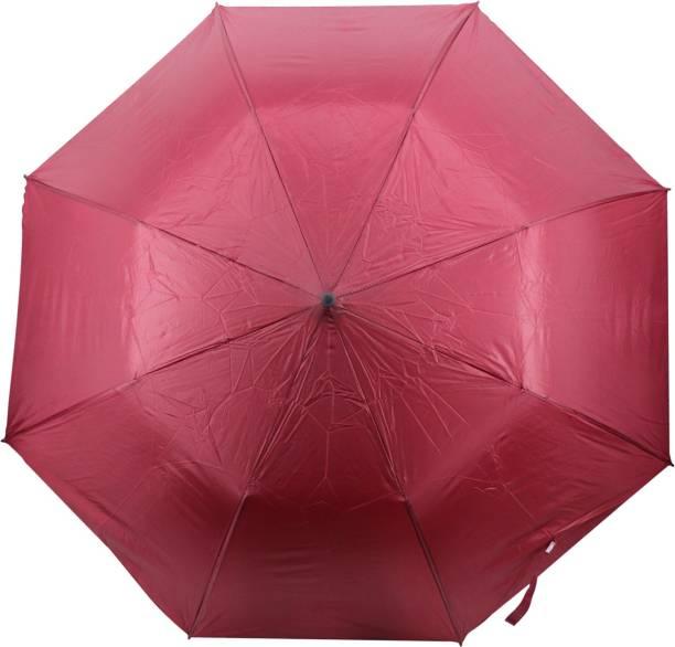 Mopi 2 fold Auto Open Plain Umbrella with cover (Red ) Umbrella