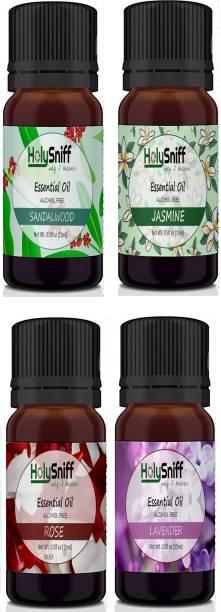 HolySniff Sandal, Jasmine, Rose, Lavender Aroma Oil, Refill, Fridge Freshener, Potpourri