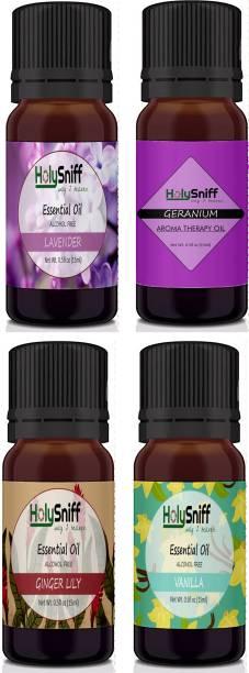 HolySniff Lavender, Geranium, Gingerlilly, Vanilla Aroma Oil, Refill, Fridge Freshener, Potpourri