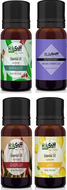HolySniff Sandal, Rosemary, Gingerlilly, Lemon Aroma Oil, Refill, Fridge Freshener, Potpourri