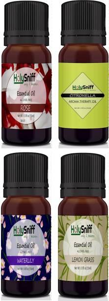 HolySniff Rose, Citronella, Waterlilly, LemonGrass Aroma Oil, Refill, Fridge Freshener, Potpourri