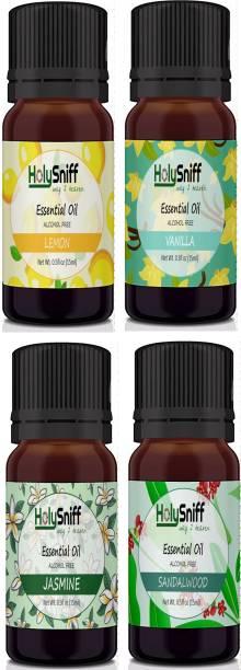 HolySniff Lemon, Vanilla, Jasmine, Sandal Aroma Oil, Refill, Fridge Freshener, Potpourri