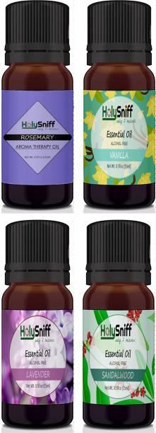 HolySniff RoseMary, Vanilla, Lavener, Sandal Aroma Oil, Refill, Fridge Freshener, Potpourri