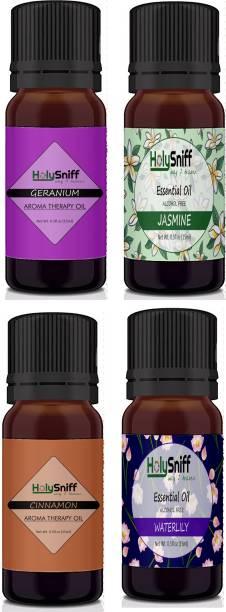 HolySniff Geranium, Jasmine, Cinnamon, Waterlilly Aroma Oil, Refill, Fridge Freshener, Potpourri