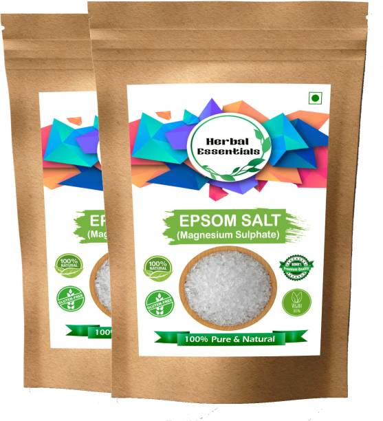 Herbal Essentials Combo Pack of 2 Epsom Salt (Magnesium Sulphate)