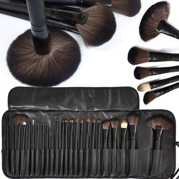 Color Tools Professionals 24Pcs Makeup Brush Set Makeup Tool Kit With Leather Pouch
