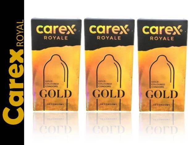 CAREX GOLD COLOURED CONDOMS 3*10pic Condom