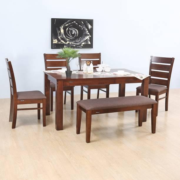 Nilkamal Garnet Solid Wood 6 Seater Dining Set