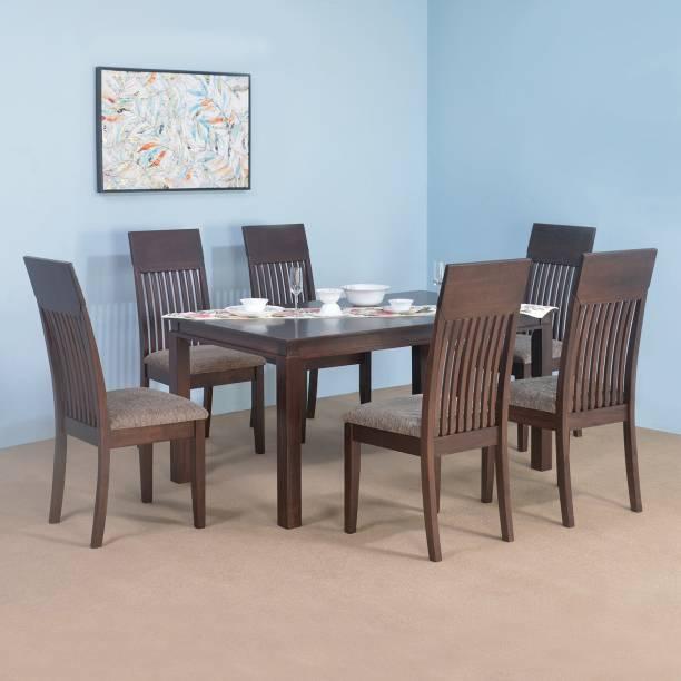 Nilkamal Hormbean Solid Wood 6 Seater Dining Set