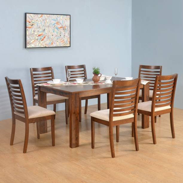 Nilkamal Togo Solid Wood 6 Seater Dining Set