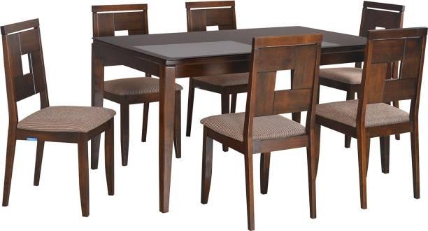 Nilkamal Hampshire Solid Wood 6 Seater Dining Set