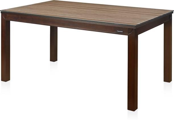 Nilkamal Julieta Glass 6 Seater Dining Table