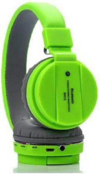 Czech Deep Bass SH12 Green Wireless Bluetooth Headphone Bluetooth Headset