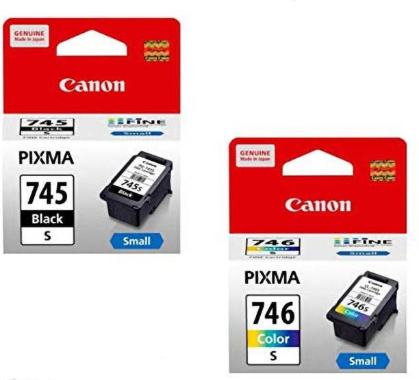 Canon PG-745s & CL-746s Black + Tri Color Combo Pack Ink Cartridge