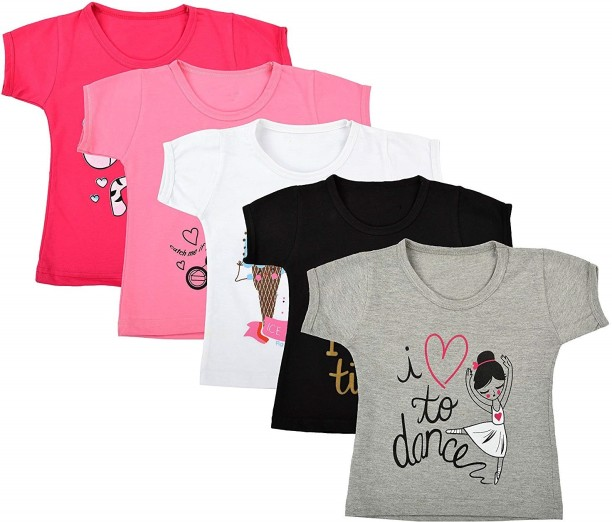T-Shirt Baby Girls Short Sleeved Top To Cool For School 6Mnth to 3 Years