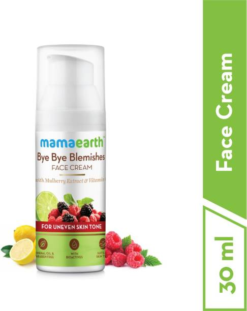 MamaEarth Bye Bye Blemishes Face Cream for Reducing Pigmentation and Blemishes with Mulberry Extract and Vitamin C