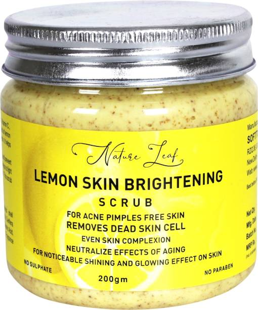 nature leaf Skin Brightening Lemon Face  Scrub
