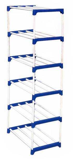CMerchants BOOK SHELF-6RACK Metal Open Book Shelf