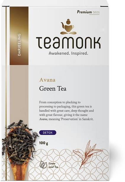Teamonk Avana Unflavoured Green Tea Box