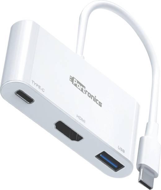 Portronics C-Konnect POR-1041 C-Konnect USB-C Multiport Adapter HDMI Connector