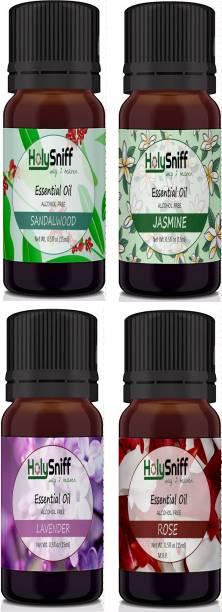 HolySniff Sandal, Jasmine, Lavender, Rose Aroma Oil, Refill, Fridge Freshener, Potpourri
