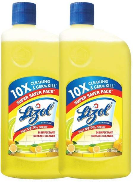 LIZOL Disinfectant Floor Cleaner Jasmine, 975 ml (Pack of 2) citrus