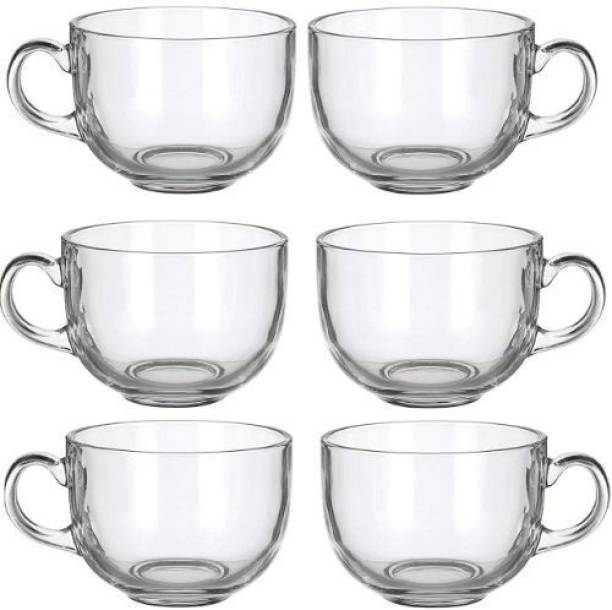 Satyam Kraft Pack of 6 Glass Transparent Glass Tea Cup / Coffee Cup Set of 6 150ml