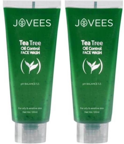 JOVEES Tea Tree Oil Control , 120 g -Pack of 2 Face Wash