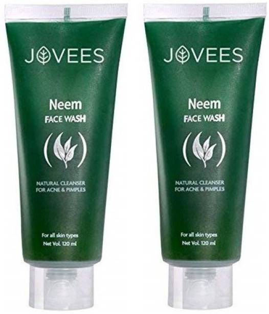 JOVEES Neem  120 Ml (Pack of 2) Face Wash