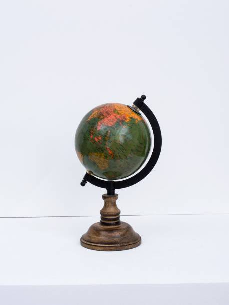 "CASA DECOR Fermi Zone Green Sea World Globe for Kids   5"" Desktop Globe with Wooden Stand Desk & Table Top World World Globe"