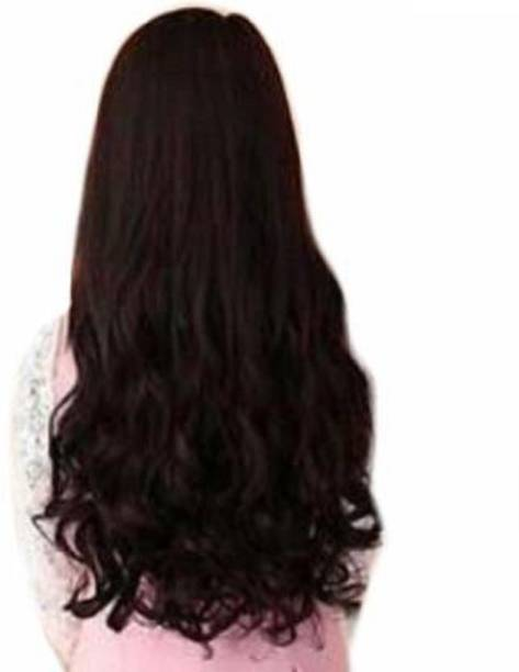 Vedica 5 Clips Best Quality Natural Brown Curly  Extension Hair Extension
