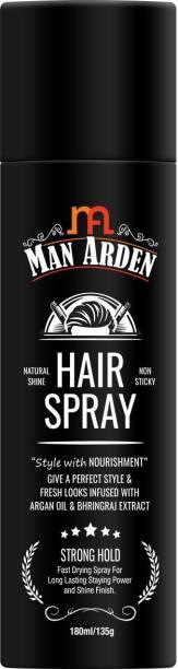 Man Arden Hair Spray - Strong Hold, Styling with Nourishment - Argan Oil and Bhringraj Hair Spray