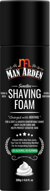 Man Arden Shaving Foam For Sensitive Skin - Charged with Menthol, Aloevera and Tea Tree