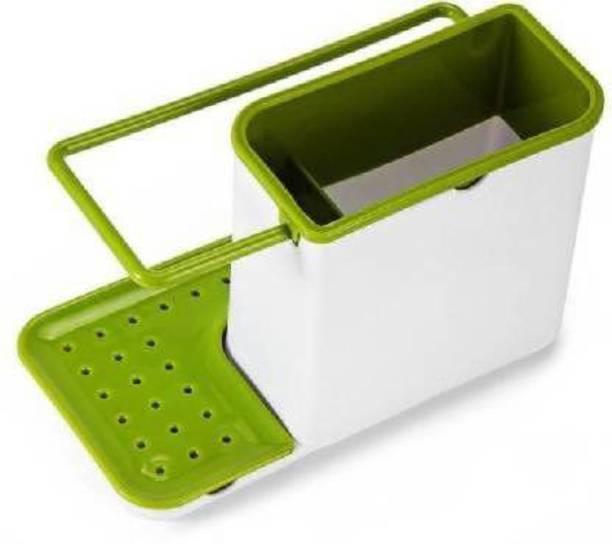 Coozico 3 In 1 Stand For Kitchen Sink Sponge Holder Kitchen Sink Organizer For Dishwasher Liquid, Brush, Cloth, Soap, Sponge 3 In 1 Stand For Kitchen Sink Sponge Holder Kitchen Sink Organizer For Dishwasher Liquid, Brush, Cloth, Soap