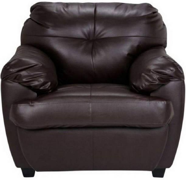 gnanitha Leatherette 1 Seater  Sofa