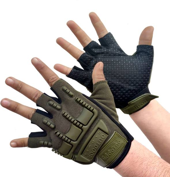 Xwon BREATHABLE FABRIC RIDING GLOVES FOR RIDERS,BIKERS Riding Gloves