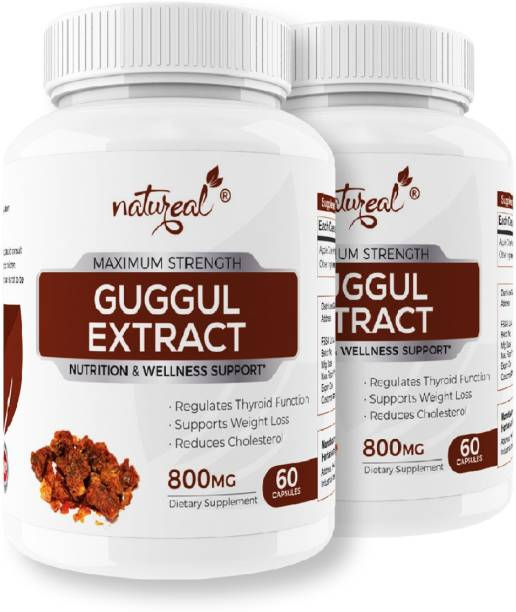 Natureal Guggul Pure Extract 800mg Capsule for Natural Weight Management & Overall Wellness