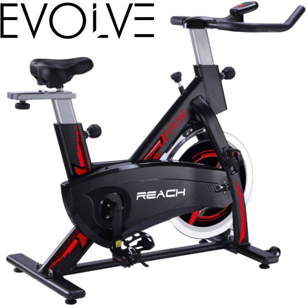 Reach Evolve Spin Bike Exercise Fitness Gym Upright Stationary Spinning Cycle For Home Spinner Exercise Bike