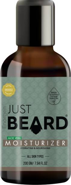 Enorgen JUSTBEARD NATURAL Ayurvedic Skin Moisturizer for Men, Skin Moisturizer, Conditioner and Softener With Extracts Aloe Vera & Shea Butter For All Skin Types
