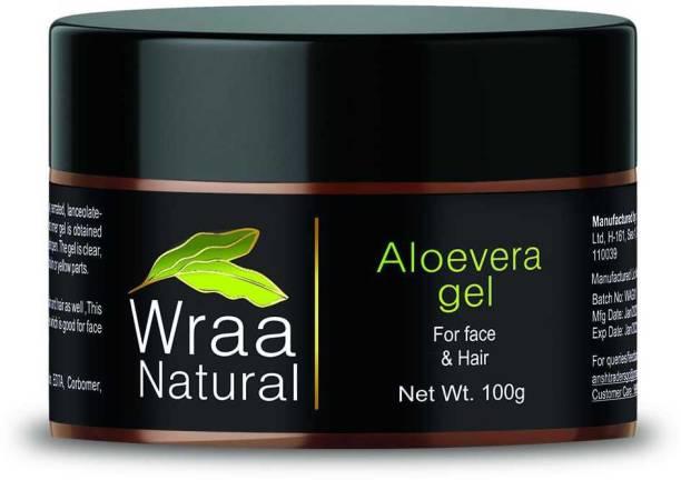 Wraa Natural Skin Care Aloe Vera Multipurpose Beauty Gel for Face, Hair, Acne Scars , Sunburn Relief, Dry Winter for Moisturizer Skin (100 gm)