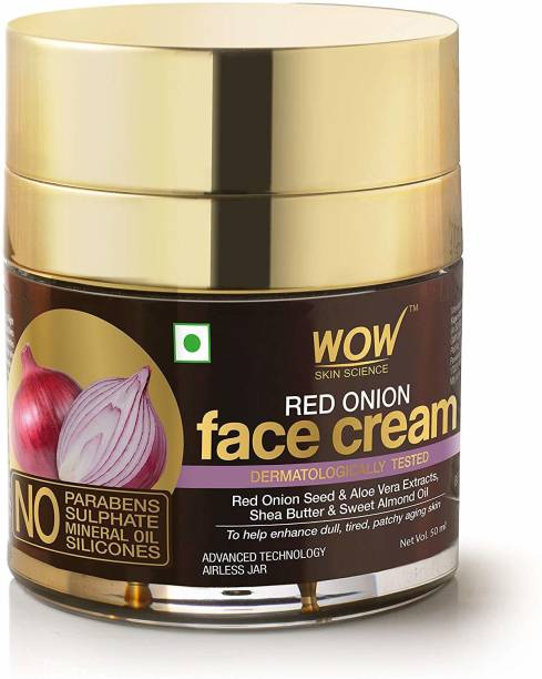 WOW SKIN SCIENCE Red Onion Face Cream - Oil Free, Quick Absorbing - For All Skin Types - No Parabens, Silicones, Color, Mineral Oil & Synthetic Fragrance - 50mL