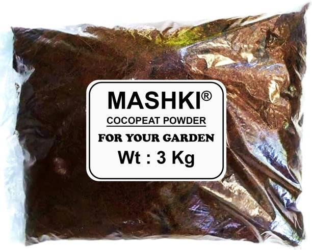 MASHKI COCOPEAT POWDER 3 KG - 100% NATURAL AND ORGANIC COCOPEAT / COIRPITH POWDER ORGANIC Soil Manure COCO POWDER Soil Manure Manure