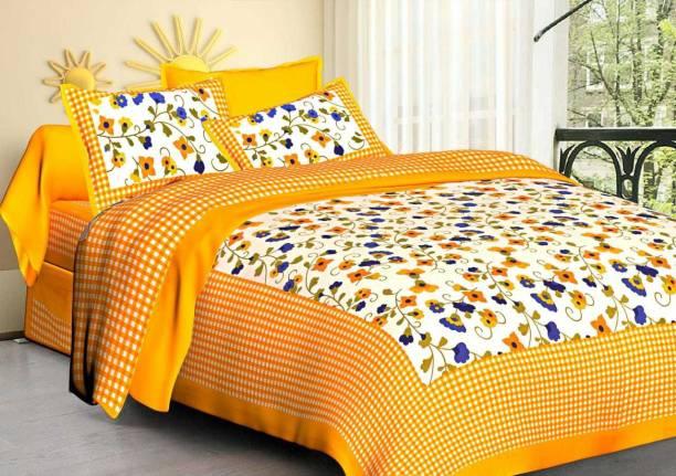 Dreamline Decor 104 TC Cotton Double King Printed Bedsheet